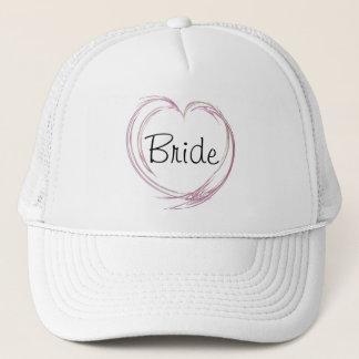 Pink Abstract Heart Bride Wedding Trucker Hat