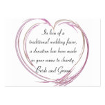 Pink Abstract Heart Wedding Charity Favor Card Large Business Cards (Pack Of 100)
