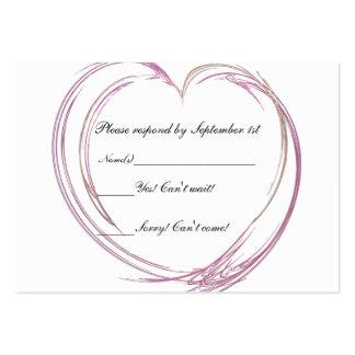 Pink Abstract Heart Wedding Response Card