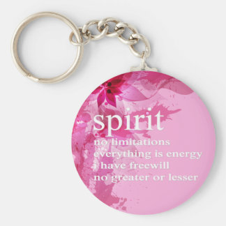 Pink Abstract Inspirational Spiritual Quote Key Chain