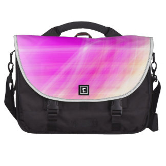Pink Abstract Laptop Commuter Bag