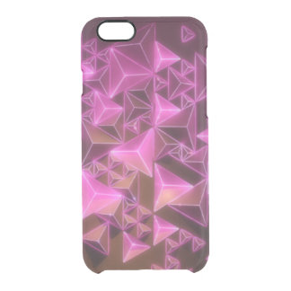 Pink Abstract Lights Clear iPhone 6/6S Case