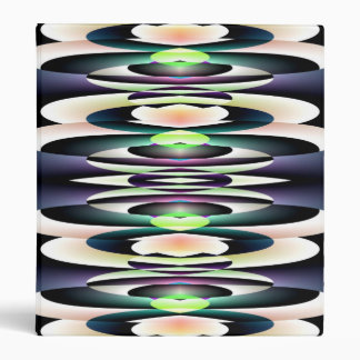 Pink Abstract Lily Pads Binder
