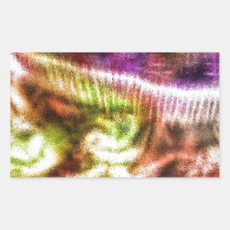 Pink Abstract Mushroom Rectangular Sticker