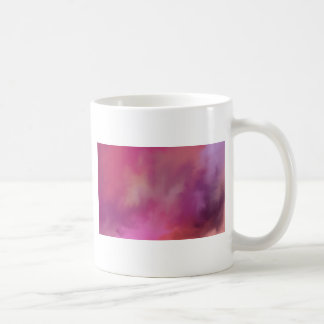 Pink abstract paint mix. coffee mug
