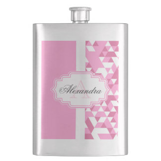 Pink Abstract Pattern Flask