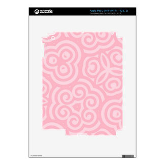 Pink Abstract Pattern iPad 3 Decal