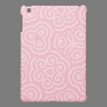 Pink Abstract Pattern iPad Mini Cover