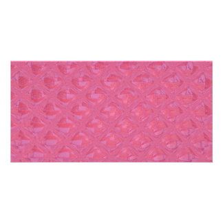 Pink Abstract Pattern Custom Photo Card