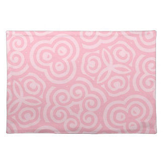 Pink Abstract Pattern Placemats