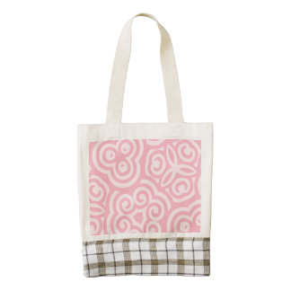Pink Abstract Pattern Zazzle HEART Tote Bag