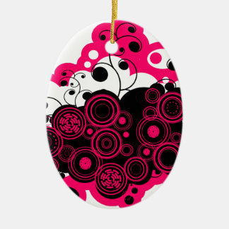 pink abstract.png ceramic ornament