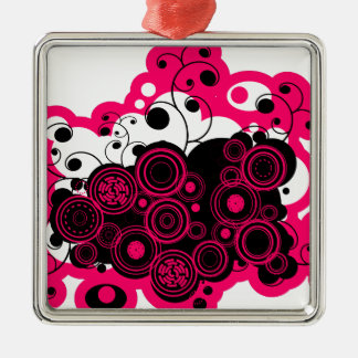 pink abstract.png metal ornament
