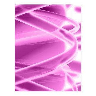 Pink Abstract Postcard