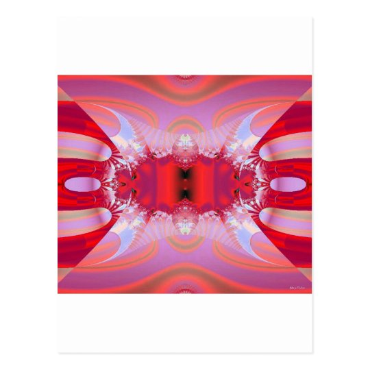 Pink Abstract Postcard