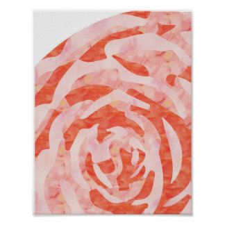 Pink Abstract Rose Print