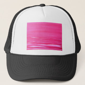 Pink abstract sea trucker hat