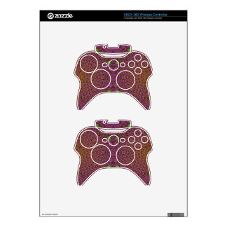 Pink Abstract Xbox 360 Controller Skin
