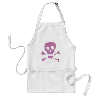 Pink Abstract Skulls Adult Apron