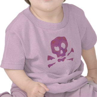 Pink Abstract Skulls Tee Shirt