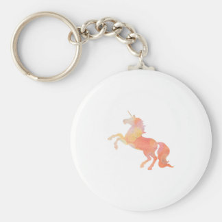 Pink Abstract Soft Lighting Unicorn Basic Round Button Keychain