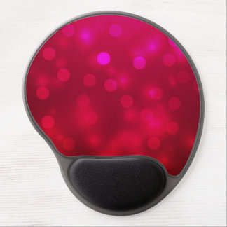 Pink Abstract Sparkles Light Design Gel Mouse Pad