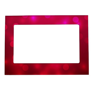 Pink Abstract Sparkles Light Design Magnetic Photo Frame
