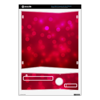 Pink Abstract Sparkles Light Design Decals For Xbox 360 S