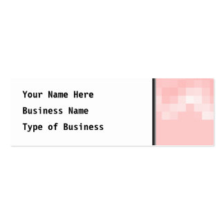 Pink Abstract. Squares in a Wave. Business Cards
