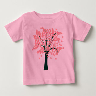 Pink Abstract Tree Baby T-Shirt