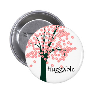 Pink Abstract Tree 2 Inch Round Button