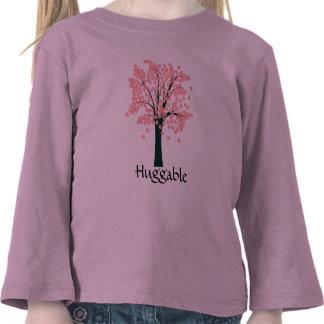 Pink Abstract Tree Tee Shirt
