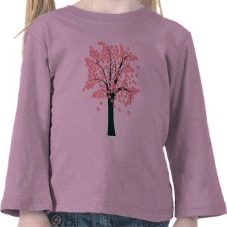 Pink Abstract Tree Tee Shirts