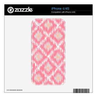 Pink Abstract Tribal Ikat Chevron Diamond Pattern iPhone 4S Decal