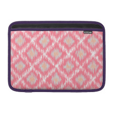 Pink Abstract Tribal Ikat Chevron Diamond Pattern Sleeve For Macbook Air at Zazzle
