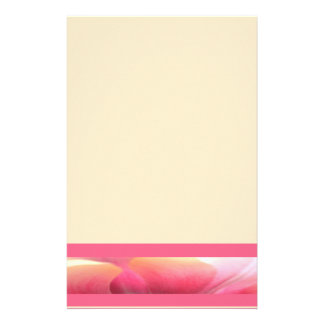 Pink Abstract Tulip Petal Accent Stationery