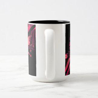 pink abstract Two-Tone coffee mug