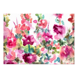 Pink Abstract Watercolor Flower Background Large Business Card