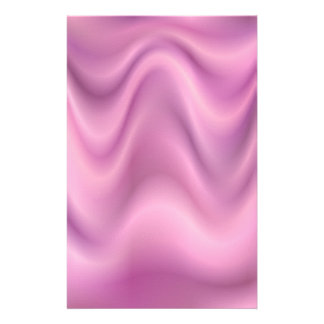 Pink abstract wave composition stationery