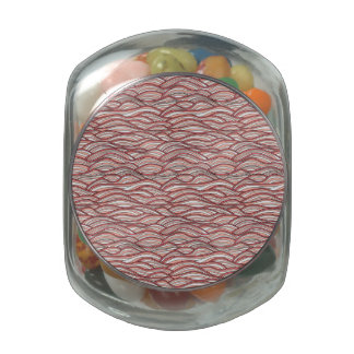 Pink abstract waves pattern. Sea texture. Jelly Belly Candy Jars