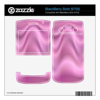 Pink abstract waves BlackBerry bold decal