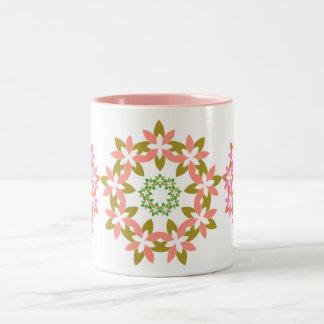 Pink Abstract Wreath Mug
