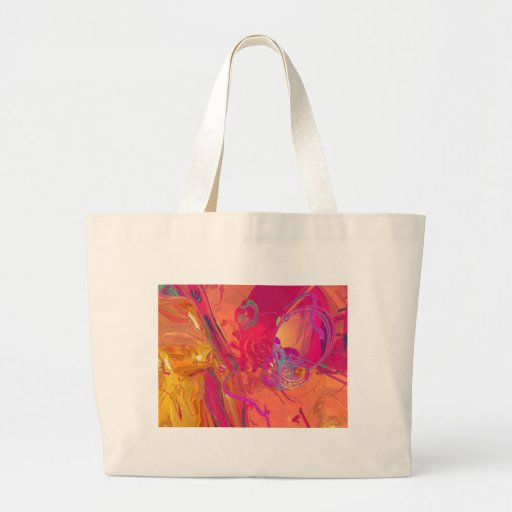 PINK ABSTRACTION TOTE BAG