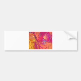 PINK ABSTRACTION BUMPER STICKER