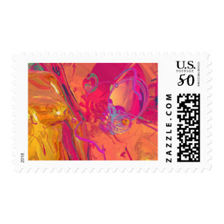PINK ABSTRACTION POSTAGE