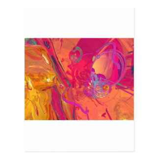 PINK ABSTRACTION POSTCARD