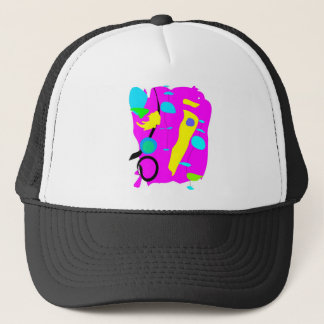 Pink abstraction trucker hat