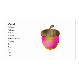 Pink acorn Double-Sided standard business cards (Pack of 100)