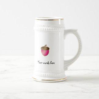 Pink acorn coffee mug