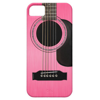 Pink Acoustic Guitar iPhone 5 Cases